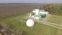 A fotón a keszthelyi szennyvíztelepen található biogáz hasznosítására szolgáló létesítmény látható